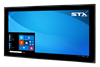 X7500 Fully Sealed Large Format Industrial PC - PCAP Touch Screen - Matte Black Finish