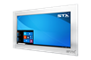 X7600 Industrial Panel PC - Resistive Touch Screen - Brushed Aluminium Finish